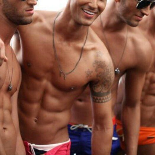 Sexy tanned men